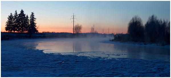 Frozen river Võhandu
