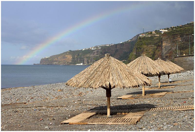 Madeira beach, rainbow