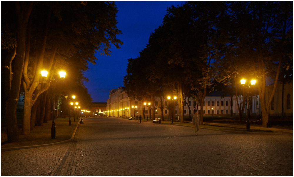 Evening in Novgorod Kremlin, Russia