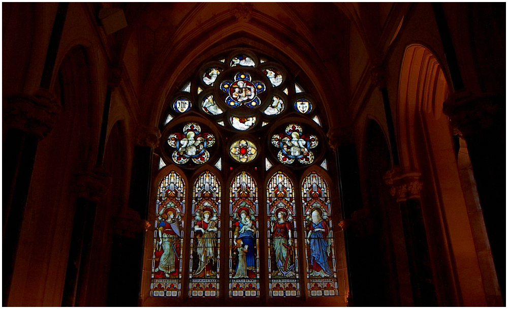 Vitrage in Gothic Church, Kylemore Abbey, Ireland