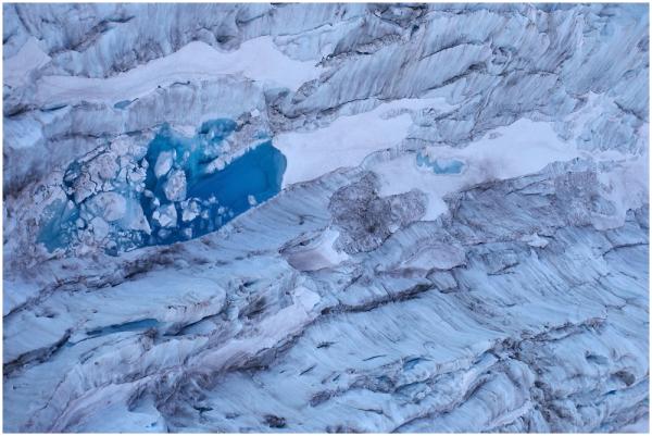 Glacier lake, Fox Glacier, New Zealand