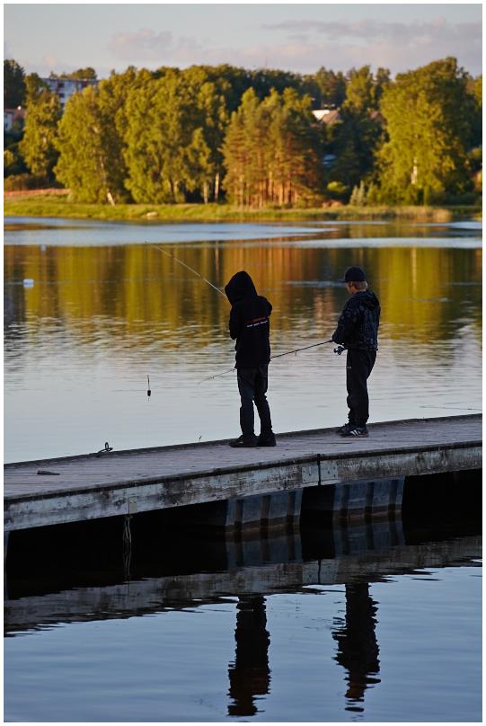 Kalamehed Põlva järve ääres