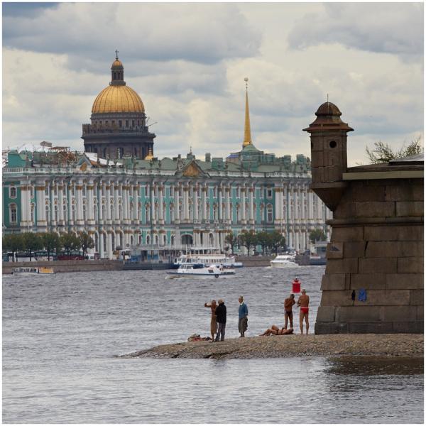 Sunbathers in Saint Petersburg