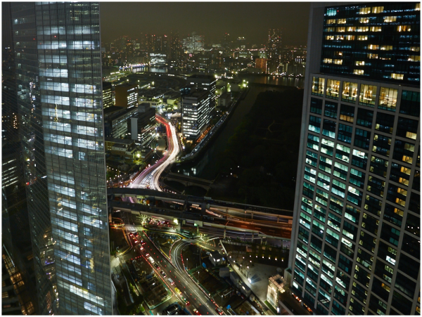 Tokyo evening view