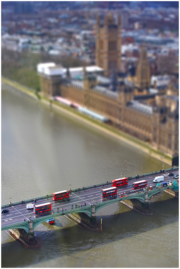 Westminster Bridge, London (tilt-shift)
