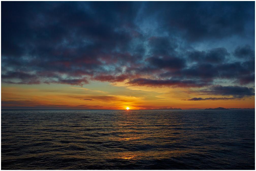 Midnight sun in Svalbard