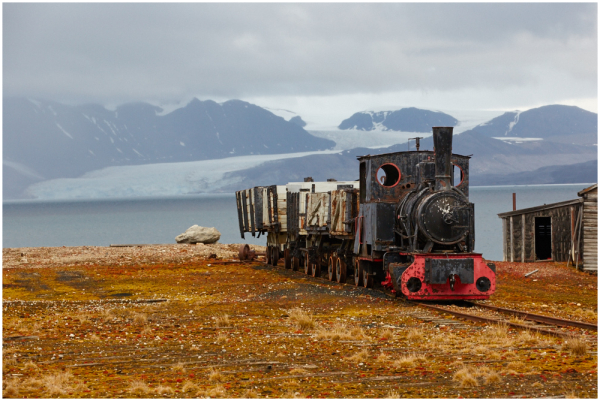Train in Ny-Alesund, Svalbard