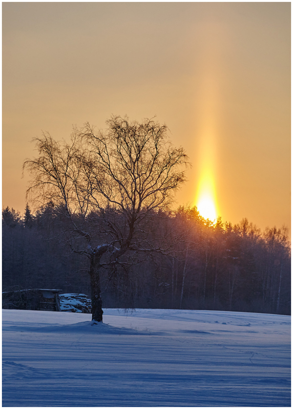 Päikesesammas / Light pillar