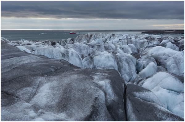 Hansbreen glacier, Spitzbergen, Svalbard
