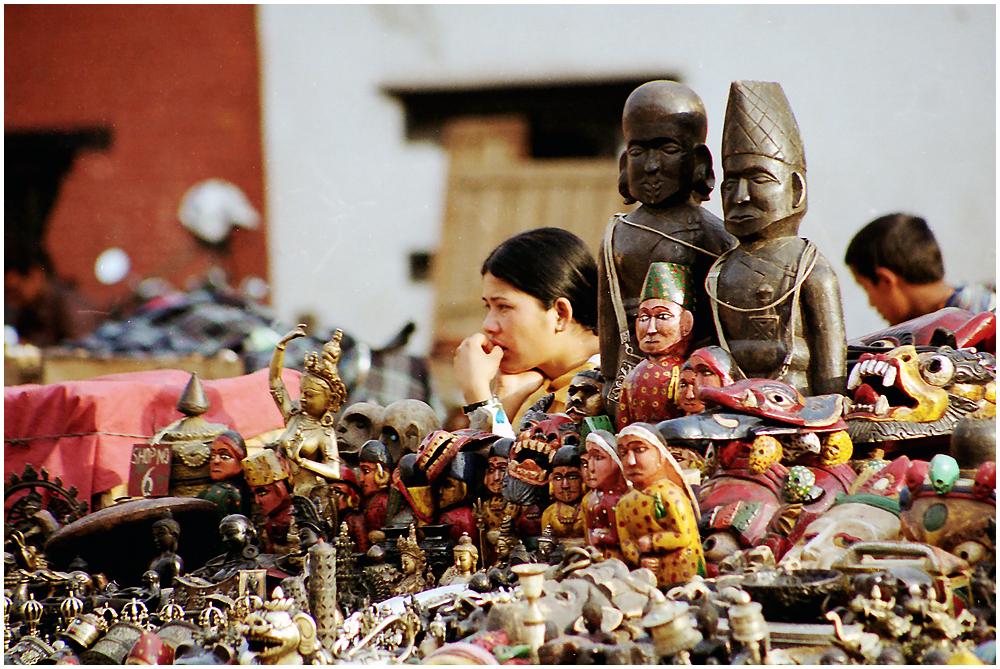 In the market, Kathmandu, Nepal