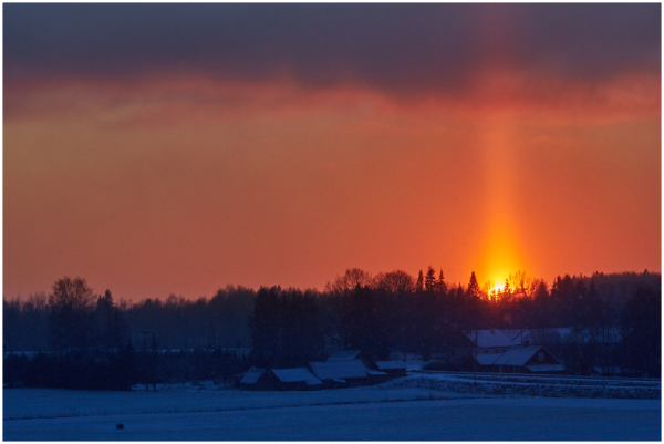 Päiksesammas / Light pillar