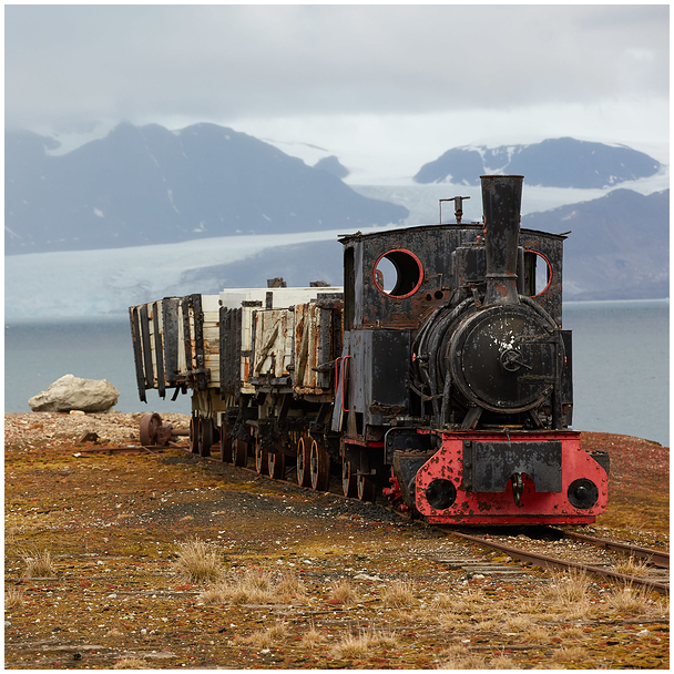 Locomotive in Ny Alesund, Svalbard