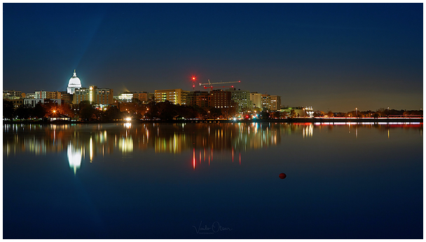 Madison, Wisconsin at Night