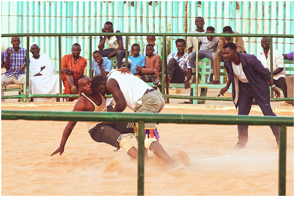 Nubian wrestling in Khartoum, Sudan