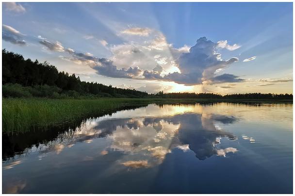 Loojang Emajõel / Sunset on the river Emajõgi