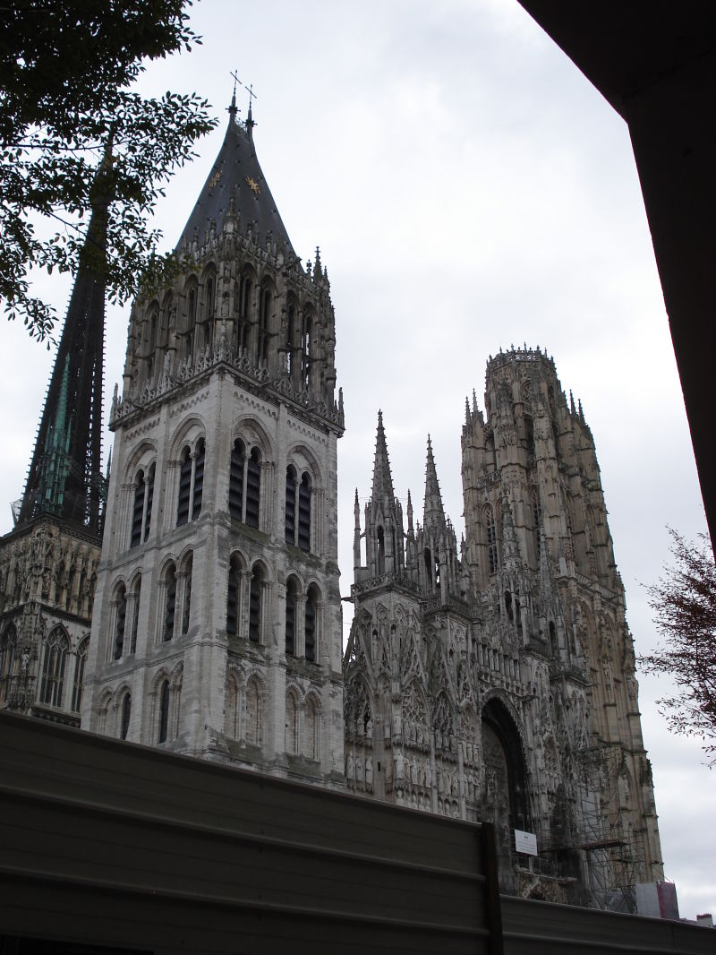 The towers of the cathedral of Rouen.