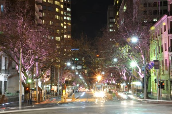Collins St at Night