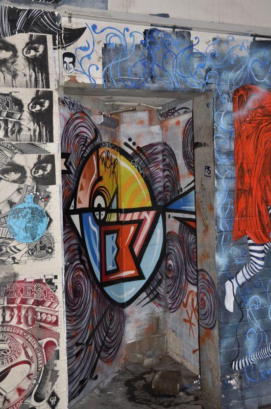 Graffiti Welcome Door