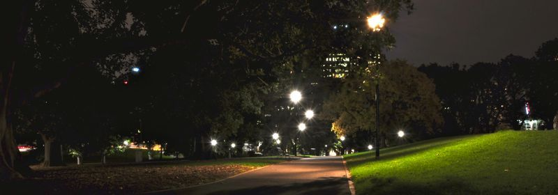 Flagstaff Gardens at Night