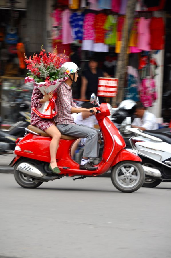 Flowers on a Bike - Hanoi