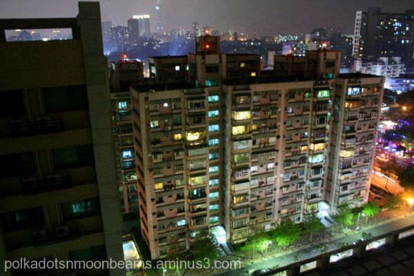 lights city landscape apartment housing taipei tai