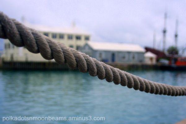 rope DOF dock bermuda island summer