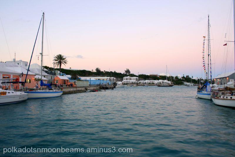 harbor sailboats boats dock Bermuda island summer