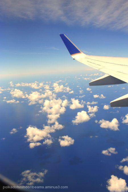 clouds sky airplane aerial Bermuda island summer