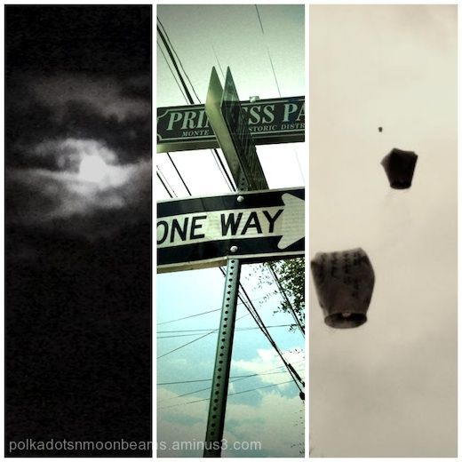triptych collage life sky