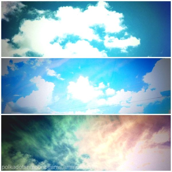 sky clouds collage