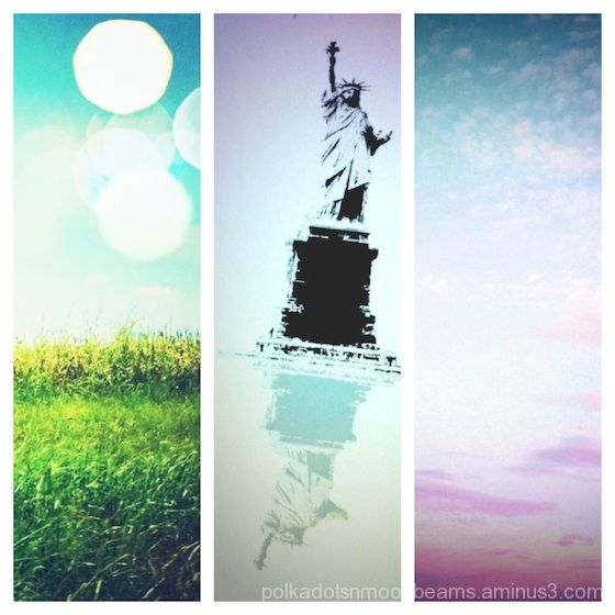 collage sky liberty