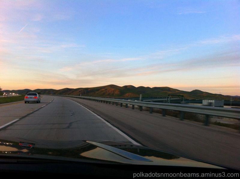 sky journey road reflection