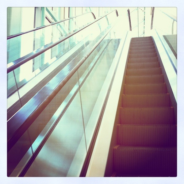 escalator, museum