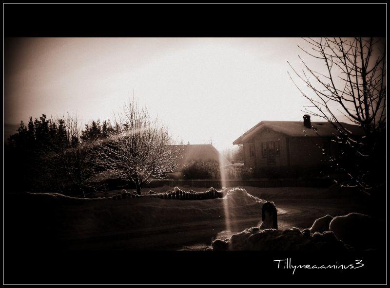 Sun strikes