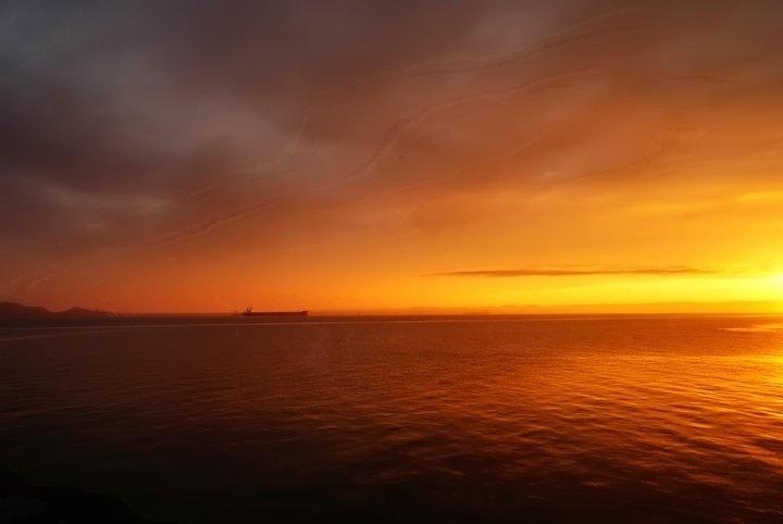 boat on a beautiful sunset