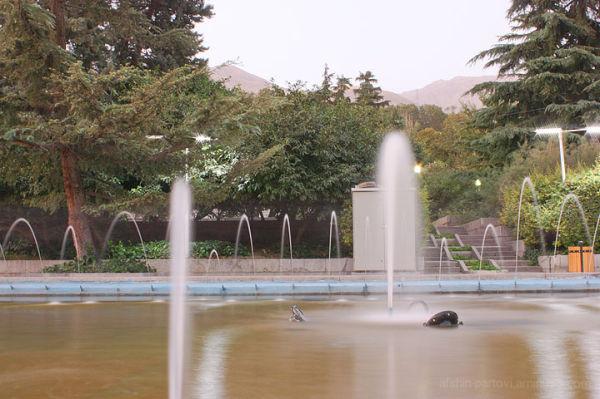 Niavaran Park, Tehran, Iran, Fountain