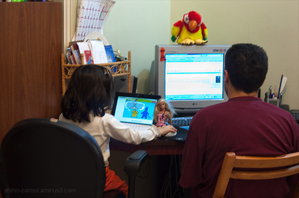 Working Table, sharing, Internet, Computer, kids &