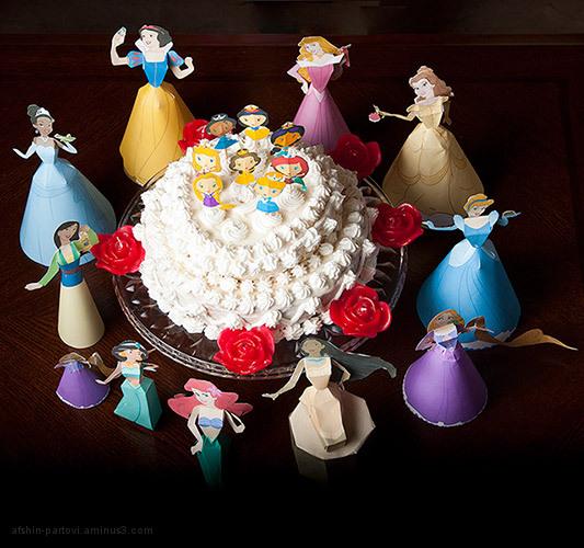 Princess, Disney,  birthday Party, cake