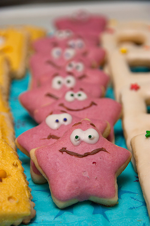 Biscuit, Sponge Bob, Patrick , Food decoration, fa