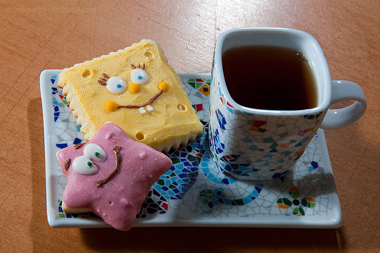 Biscuit, Sponge Bob, Food decoration, fantasy