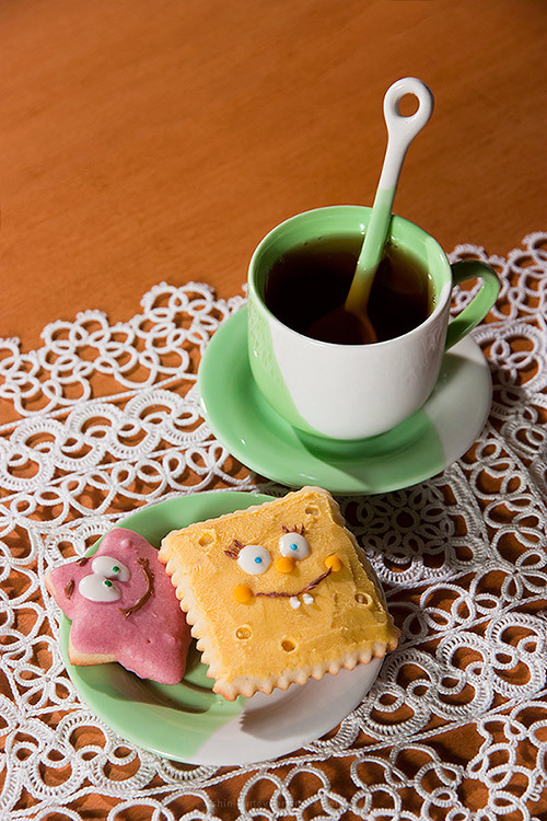 Biscuit, Sponge Bob, Food decoration, fantasy