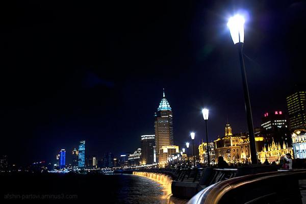 Shanghai, riverside, night life