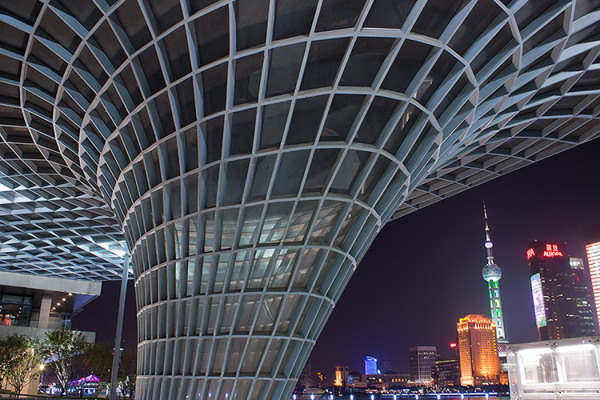 Shanghai, riverside, night life, Metro Station