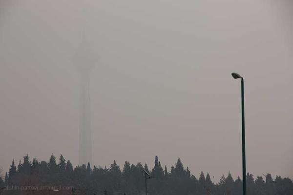 pollution, Tehran, Milad tower