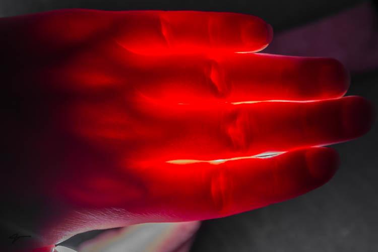 Blood, Hand, Strobist, flash, Fire, Red