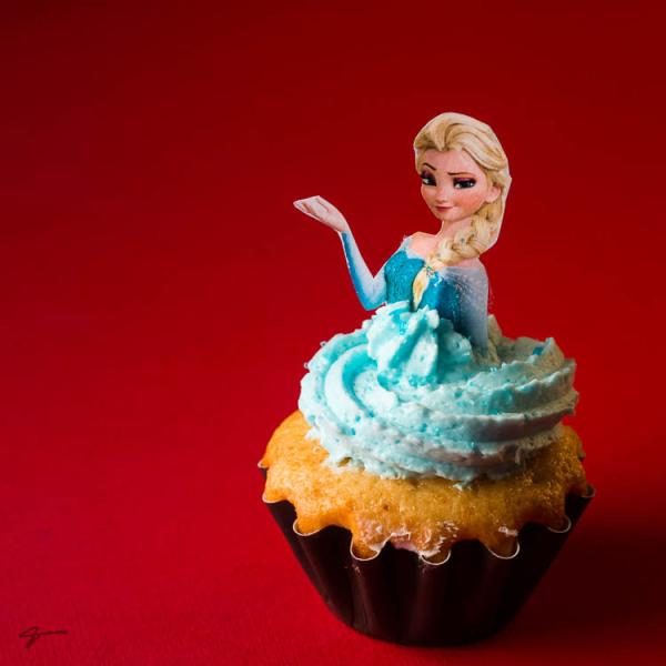 Frozen, Cup cake, Elsa