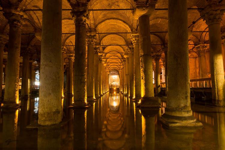 Basilica Cistern, Underground Cistern, Istanbule,