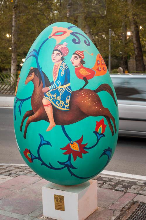 Tehran, Mellat park, painting, Nowrouz, Easter egg