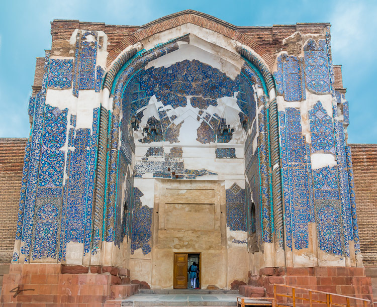 Jahanshah mosque or Turquoise of Islam in Tabriz