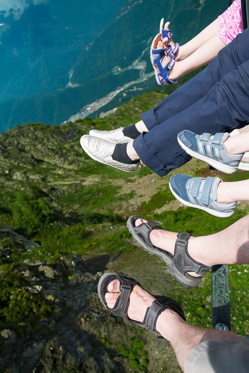 Family, foot, telesiege, chairlift, Caucasus Mount